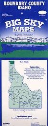 County Map of Boundary County, Idaho by Big Sky Ma