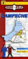 State Map of Campeche, Mexico by Guia Roji