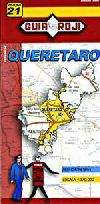 State Map of Queretaro, Mexico by Guia Roji
