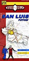 State Map of San Luis Potosi, Mexico by Guia Roji