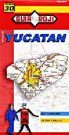 State Map of Yucatan, Mexico by Guia Roji
