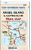 Angel Island and Alcatraz Map, California by Tom H