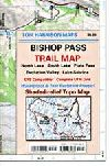 Bishop Pass Map, California by Tom Harrison