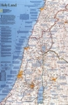 Holy Land, 2-Sided, laminated by National Geographic Maps