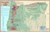 Oregon Viticultural & Winery Wall Map by VinMaps