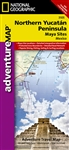 Adventure Map of Northern Yucatan and Mayan Sites, Mexico (#3105) by National Geographic Maps
