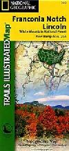 Hiking Map of Franconia Notch and North Conway (Ne