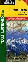 Hiking Map of Grand Teton National Park, Wyoming b