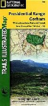 Hiking Map of Presidential Range and Gorham (New H