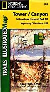Hiking Map of Northeast Yellowstone National Park,