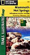 Hiking Map of Northwest Yellowstone National Park,