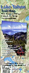 Biking, Skiing and Hiking Map of Lake Tahoe, Calif