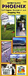 Phoenix, Arizona Recreation, Golf and Shopping Map by Wide World of Maps