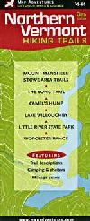 Hiking Trails Map of Northern Vermont by Map Adven