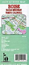 City Map of Boise, Idaho including Caldwell, Nampa