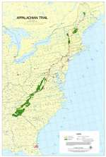 Appalachian Trail Poster Map, Large by Appalachian Trail Conference