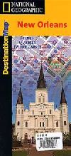 New Orleans, Louisiana Destination Map by National