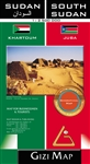 Geographical Map of Sudan & South Sudan by Gizi Map