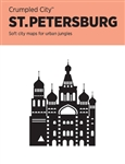 Saint Petersburg, Russia Crumpled City Map by Palomar S.r.l.