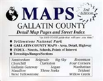 Gallatin County, Montana and Yellowstone National Park, Wyoming, Atlas by DTG Maps