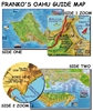 Laminated Oahu Guide Map by Frankos Maps Ltd.
