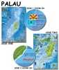 Laminated Palau Guide Map by Frankos Maps Ltd.