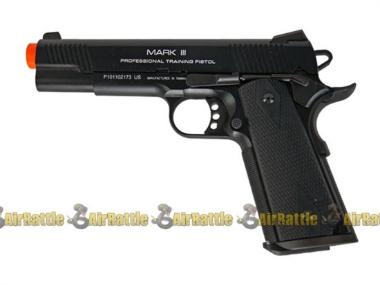 KWA Full Metal 1911 Mark III PTP Airsoft Gun Blowback NS2 Gas Pistol