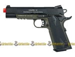 KWA Full Metal 1911 Mark IV PTP Airsoft Gas Blowback Pistol ( OD Green )