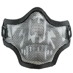 59074 Valken Tactical Wire Mesh Airsoft Face Mask ( Black Skull )