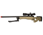 Bravo Sniper Rifle Mk98 in Tan TYPE 96 Airsoft OPS Bolt Action Guns