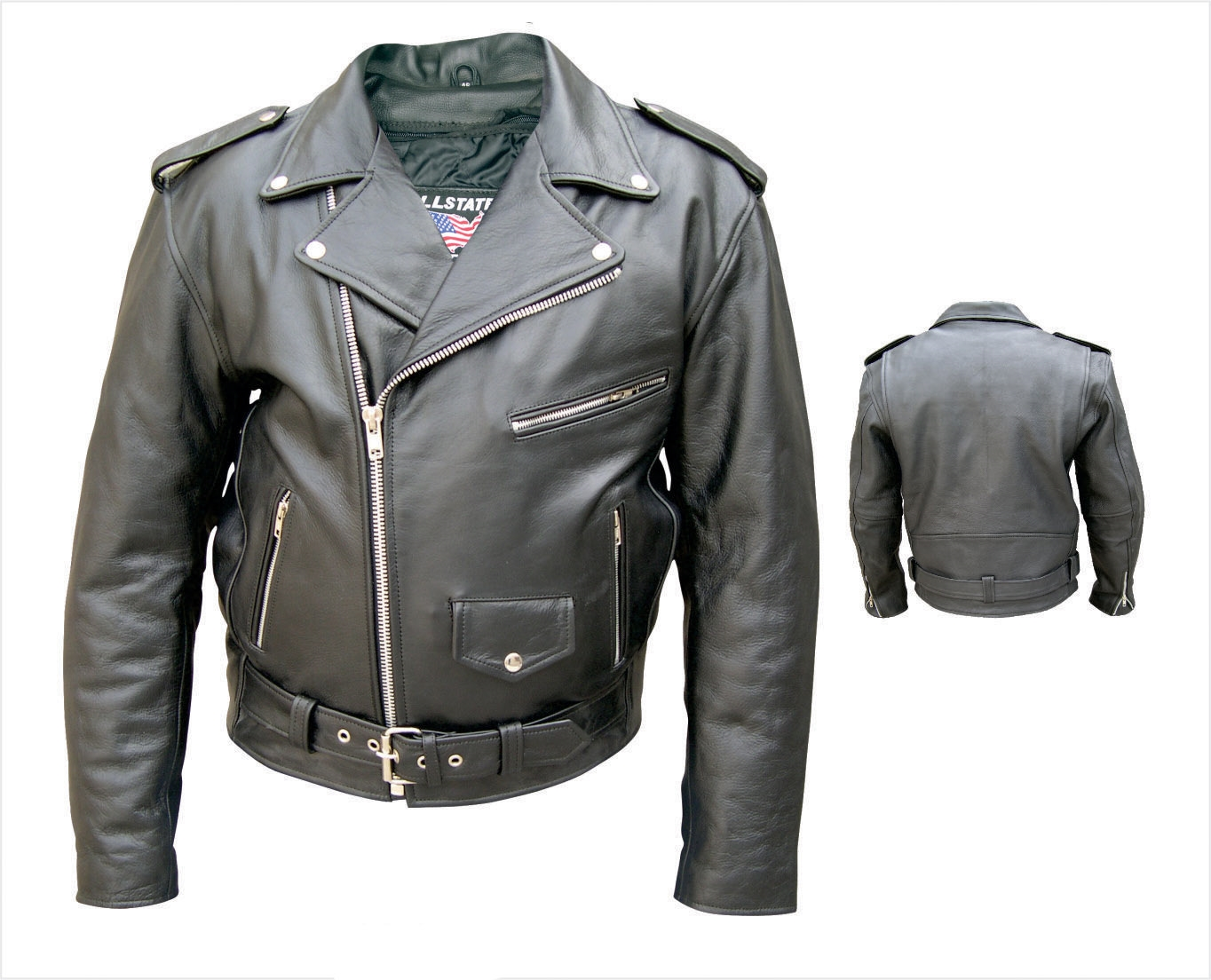 Buffalo Leather pockets /& full sleeve zipout liner Antique Brass Hardware Mens Vented jacket with braid trim