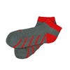 Sock 101 - IZE Red and Gray Athletic Short Sock