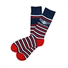 The School of Sock - AFSA Navy Blue and Red Striped Charity Sock