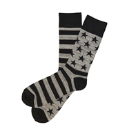 The School of Sock - The Abe Black and Gray American Flag Sock