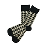 Sock 101 - The Alexander Tan and Black Houndstooth Sock