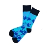 Sock 101 - The Autism Speaks Blue, Light Blue and Navy Puzzle Charity Sock