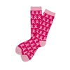 Sock 101 - The Breast Cancer Awareness Pink Repeating Ribbon Athletic Sock