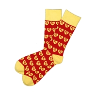 Sock 101 - I Heart KC Red and Yellow Kansas City Sock
