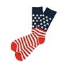 Sock 101 - The Merica Red, White and Blue American Flag Sock