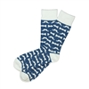 Sock 101 - The Movember Navy Blue and WhiteMustache Sock