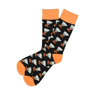 Sock 101 - I ShuttleKCock Black, Orange and White Kansas City Sock