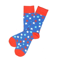 Sock 101 - The Old Glory Red, White and Blue Stars Sock