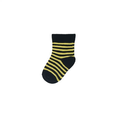 Sock 101 - The Truman Black and Yellow Striped Kids Sock