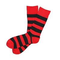 Sock 101 - The Watson Red and Black Striped Sock