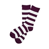 Sock 101 - The William Purple and White Striped Sock