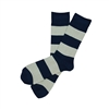Sock 101 - The Windsor Navy and Gray Striped Sock