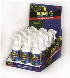 12 Pack of Ultrathon Clothing & Gear Insect Repellent (8 oz.)