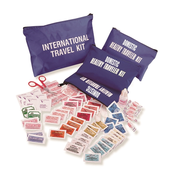 Medical Kits for travel, emergency first aid kits, most affordable medical kit, complete single dose medications, travel emergency kit, travel kit, emergency travel kit, all inclusive medical essentials for travel, compact travel kit, zippered medical kit
