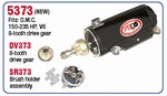 Arco OMC Starter For 150-235 HP V6. 8 Tooth Gear, 5373