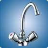 Scandvik Swivel J Spout Gallery Mixer